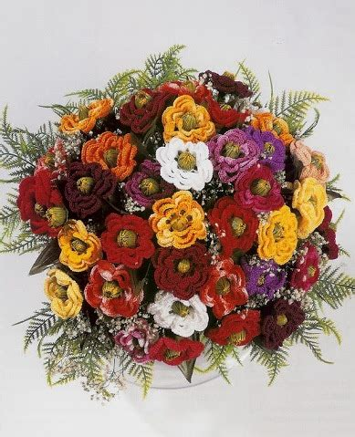 come fare fiori all uncinetto relas 233 come fare un bouquet di fiori all uncinetto schema