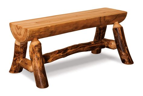 log bench aspen half log bench hardwood creations