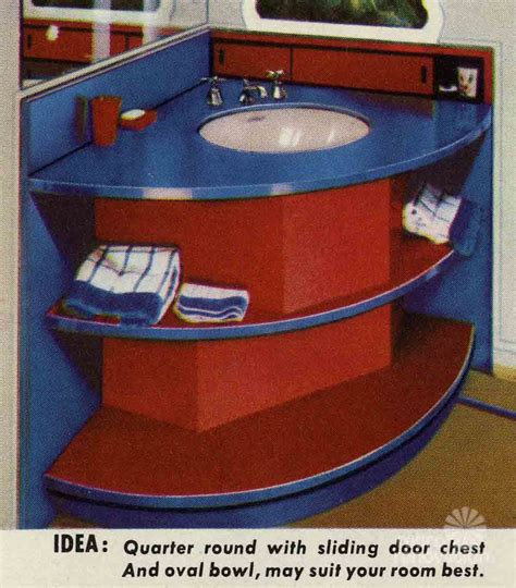 fitting your own bathroom 10 bathroom vanity designs from formica quot vanitory quot ideas from 1951 retro renovation