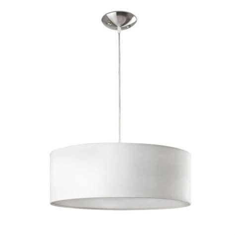 comprar lampara colgante blanca clasica cilindrica