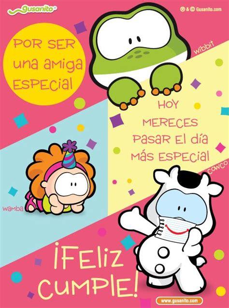 imagenes de amor y amistad gusanito amiga especial postales y tarjetas de cowco cumplea 241 os
