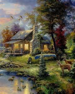 the o jays paintings and the cabin on