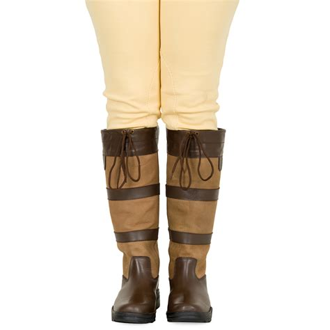 mens leather riding boots ladies mens unisex new winter horse farm wellies leather