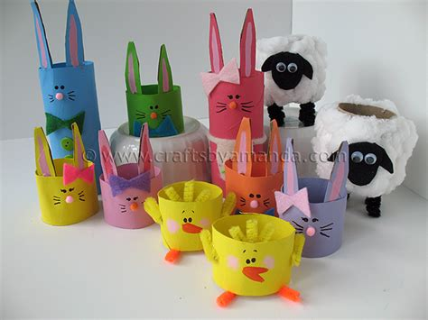 Toilet Paper Roll Easter Crafts - cardboard crafts easter crafts cardboard 11
