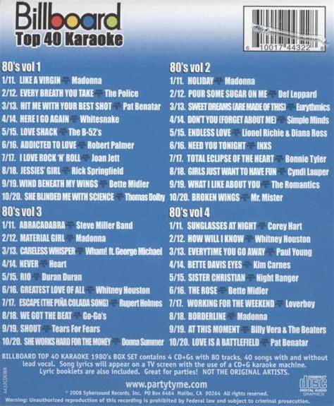 billboard top  karaoke  box sybersound songs