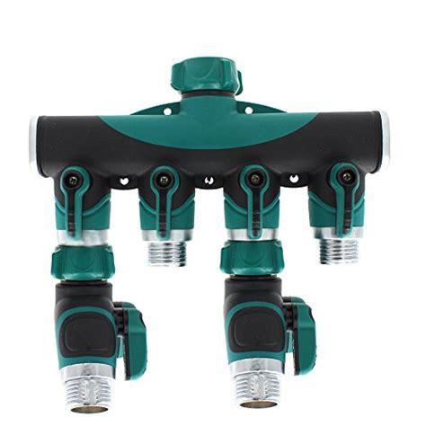 kitchen faucet splitter sumnacon 174 4 way hose garden hose splitter hose faucet
