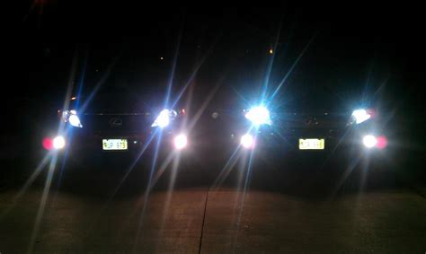 hid le headlights led vs halogen pictures