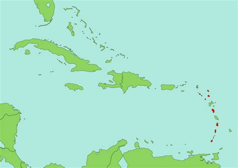 map of caribbean with country names file map of east caribbean dollar countries svg