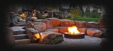 fire pits in backyards spokane coeur d alene backyard fire pit design construction