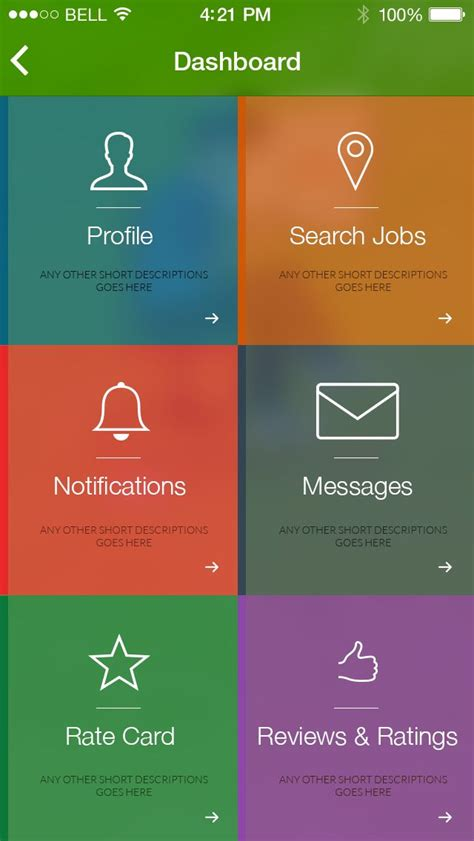 design application menu 45 best ios android application designs images on