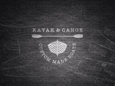 canoe boat logo kayak canoe custom made boats logo by p o design