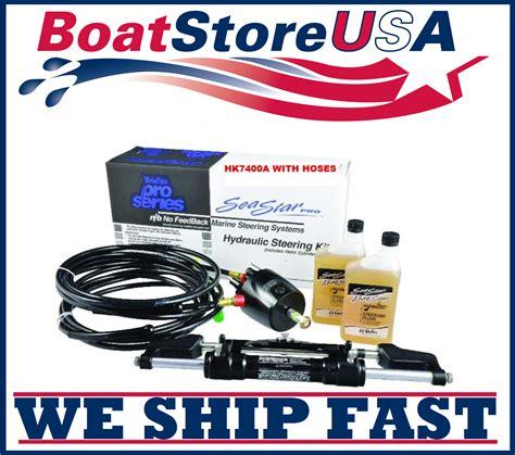 bass boat hydraulic steering kit teleflex hk7400a 3 seastar pro hydraulic boat steering kit