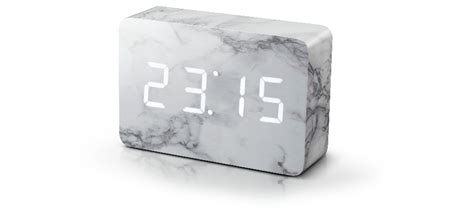 Bedroom Clock by Brick Marble Click Clock Brick Click Clock Gingko