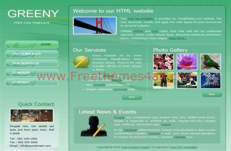 abstract green html css website template