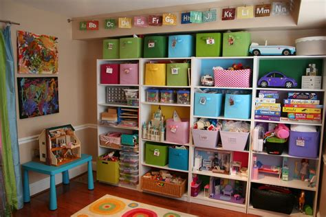 Toy Storage Ideas | pink and green mama kid friendly spaces and toy storage