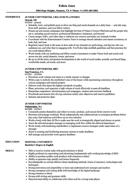 List Of Synonyms And Antonyms Of The Word Copywriter Resume Copywriter Resume Template