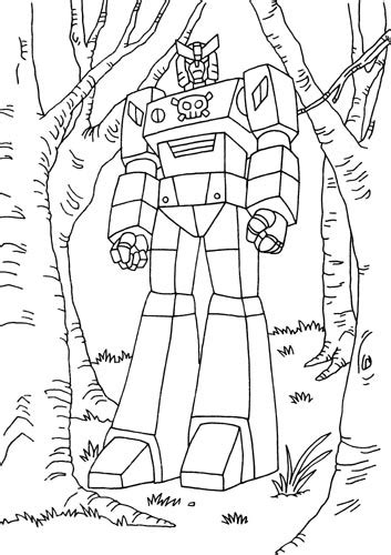 voltron foures free colouring pages