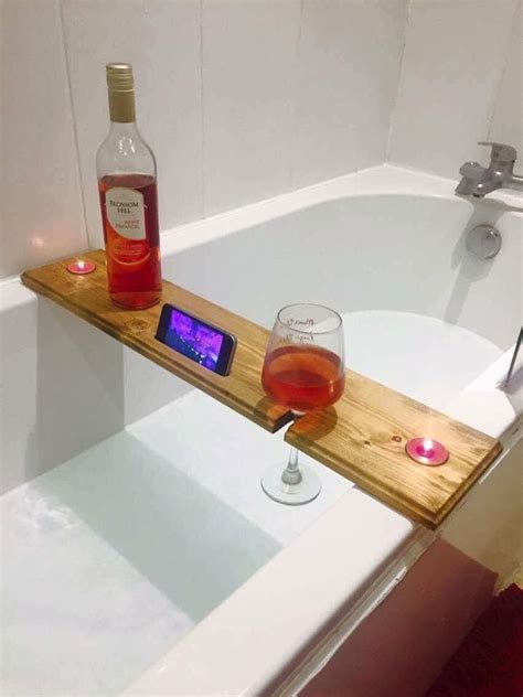 glass tray for bathroom bathtub board wine glass phone and candle holder