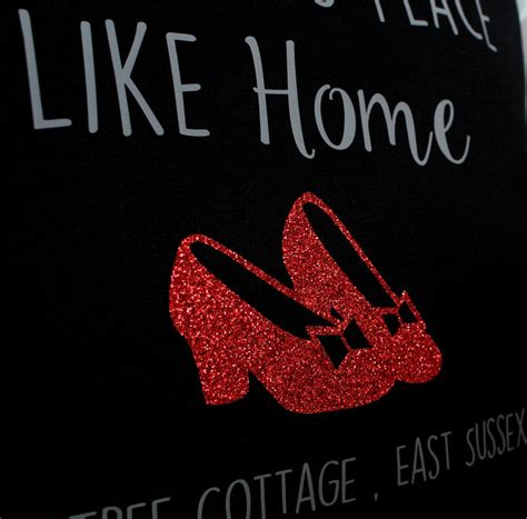 there s no place like home personalised cushion by