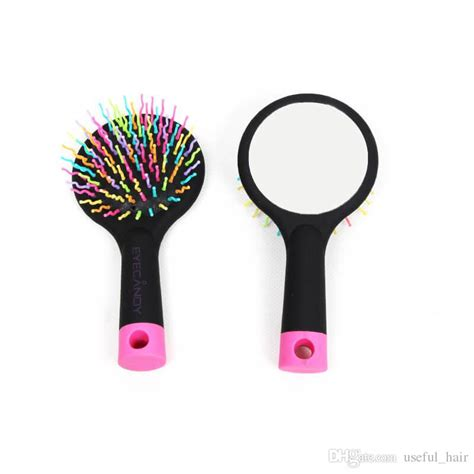 Air Curly Hair Comb T3010 curly hair extensions rainbow volume brush mirror air comb brush loop brushes plastic