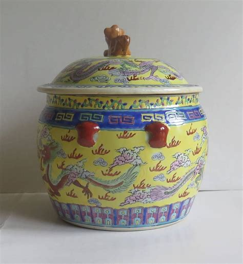 for sale chinese dragon pots for plants lausanne 19th century chinese export lidded pot or bowl porcelain