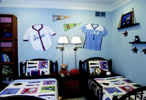 vintage sports themed boy s bedroom traditional 30 cool and contemporary boys bedroom ideas in blue