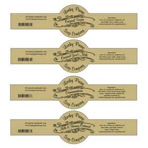 Handmade Soap Label - free printable cigar band soap label template soap