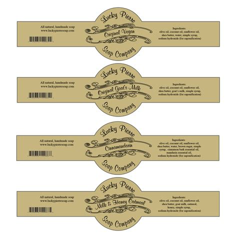 Handmade Stickers Labels - free printable cigar band soap label template soap