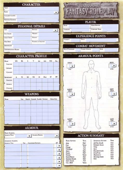warhammer 3rd edition card template warhammer resources