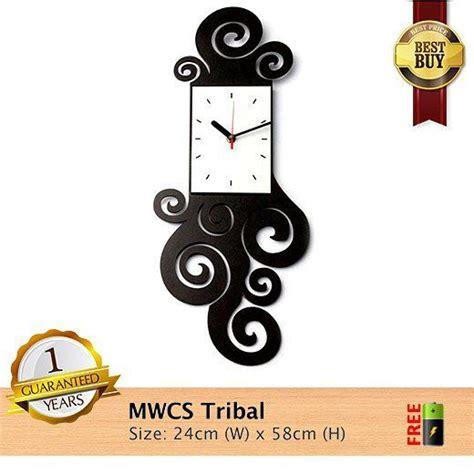 Barang Terlaris Mesin Jam Dinding Sweep Movement Tidak Berisik jam dinding mwcs tribal spesifikasinya 1 mesin seiko quartz sweep movement yang artinya