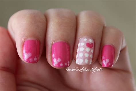 day nail designs valentines day nails pink hearts chronicles of a