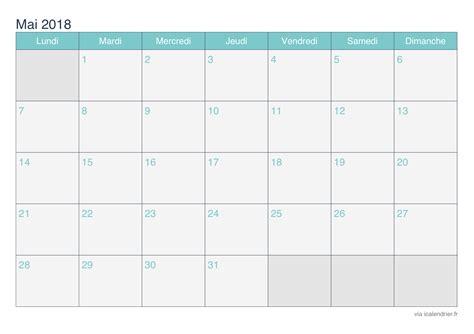 Calendrier 2018 Mai Calendrier Mai 2018 224 Imprimer Icalendrier