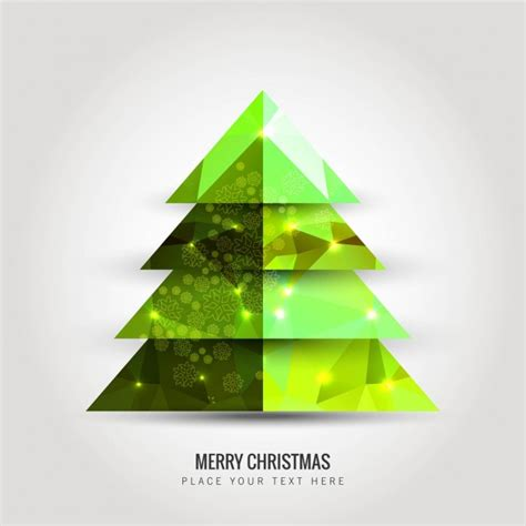 bright green christmas tree vector free download