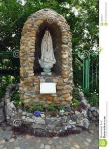 Indoor Garden Chicago - tomsk a grotto to the virgin mary of fatima stock photo image 33810512