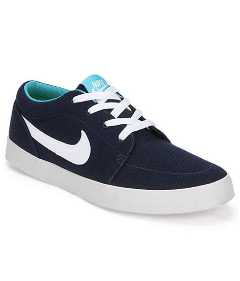 nike canvas sneakers buy nike voleio canvas blue sneakers for snapdeal