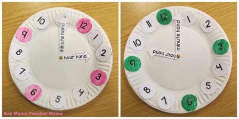 How To Make A Clock With A Paper Plate - a teaching clock boy