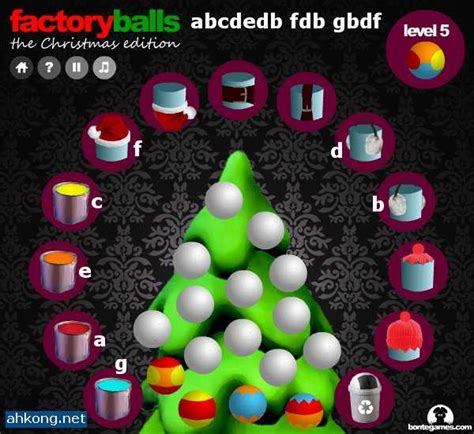 factory balls christmas edition walkthrough ahkong net