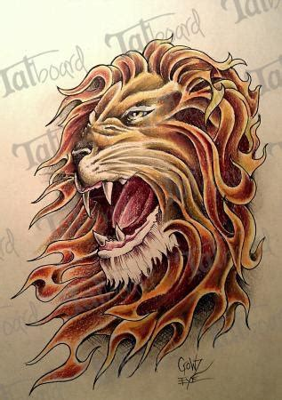fire tiger tattoo designs s with flames design by crowz