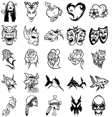 different styles of tribal tattoos collection of 25 set of different tribal designs