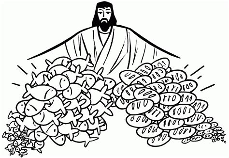 coloring page jesus feeds 5000 jesus feeds 5000 coloring page feeding the 5000 coloring