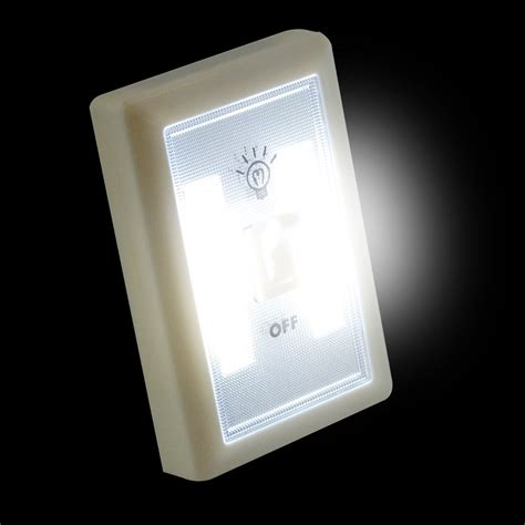 2w cob led light switch super bright portable night l