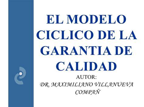 modelo de calidad modelo ciclico de grantia de calidad