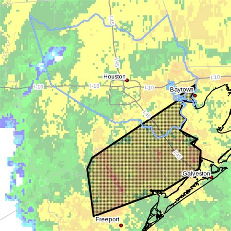 southeastern harris county under flood warning this