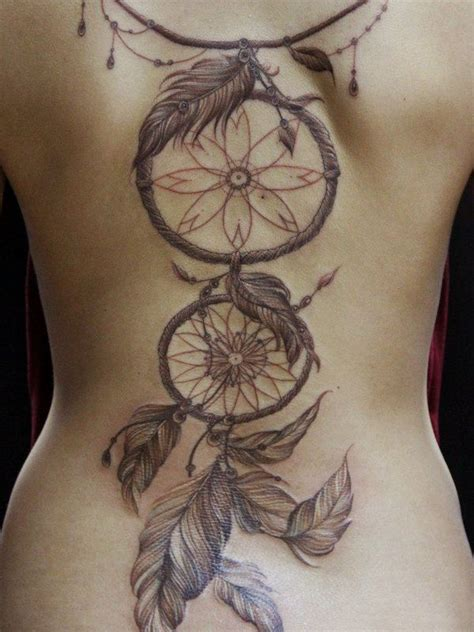 Tattoo Dreamcatcher Full Back | 23 latest dream catcher tattoos