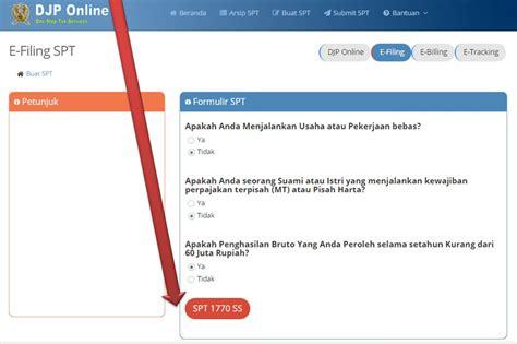 tutorial djp online cara efiling pajak online 2018 lengkap gambar per langkah