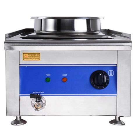 dual countertop buffet food warmer steam table w 2x 7 qt