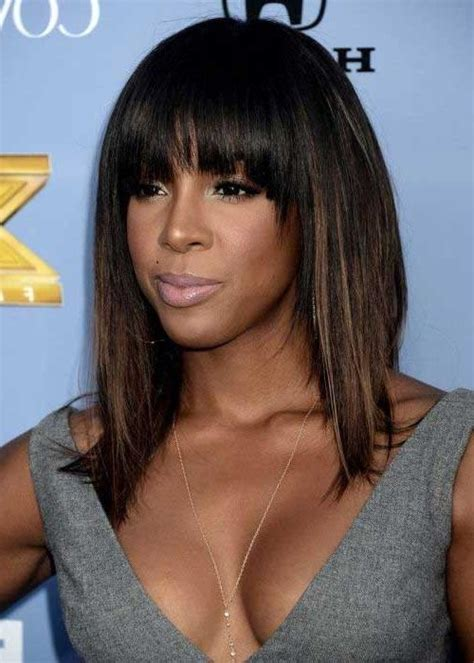 black women caesar haircut with bangs 15 best of bob hairstyles for black women with sleek bangs