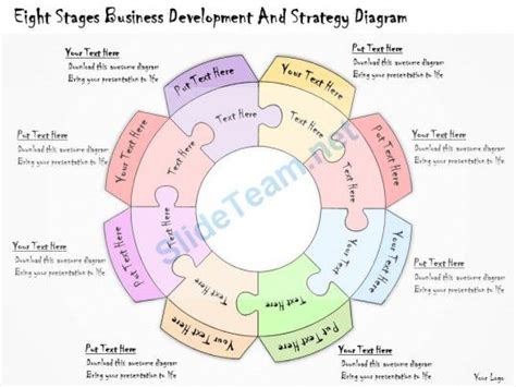 1113 Business Ppt Diagram Eight Stages Business Development And Strategy Diagram Powerpoint R D Strategy Template