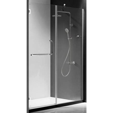 Pivot Or Hinged Shower Door Republic Prima Premium 59 In X 72 In Semi Framed Pivot Hinged Shower Door In Chrome With