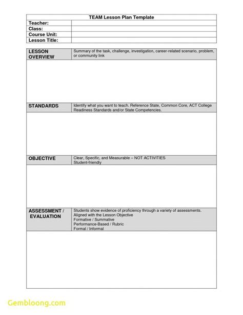 team lesson plan template tn tn evaluation lesson plan template best photos of sle